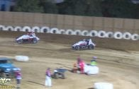 June 16, 2018 – Sprint Car Challenge Tour – Keller Auto Speedway – Ryan Robinson / Jodie Robinson Crash