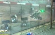 October 6, 2018 – KWS/NARC Sprint Cars – Kern County Raceway – Kyle Hirst crash