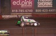 November 8, 2018 – USAC National Sprint Cars – Perris Auto Speedway – Thomas Meseraull Crash
