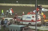 March 14, 1998 – Sprint Car Racing Association – Perris Auto Speedway – Rip Williams Crash